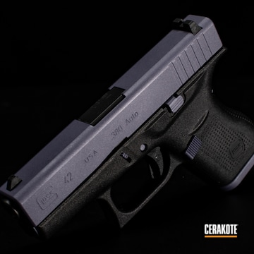 Cerakoted Two Toned Glock 42 In H-146, H-217 And H-314
