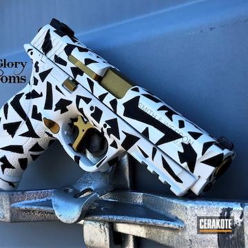 Cerakoted Smith & Wesson Splinter Camo In H-136 And H-146