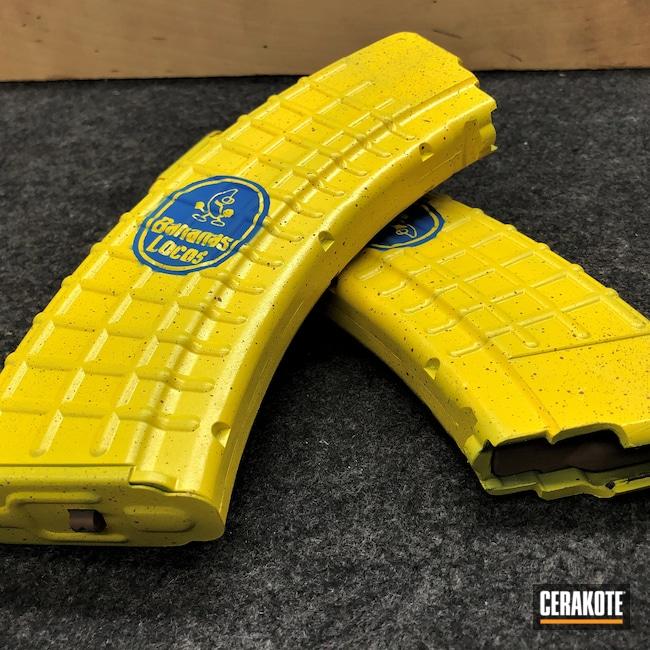 Cerakoted: Magazines,Corvette Yellow H-144,NRA Blue H-171,Banana,AK-47,Copper Brown H-149,Banana Clip,AR-15