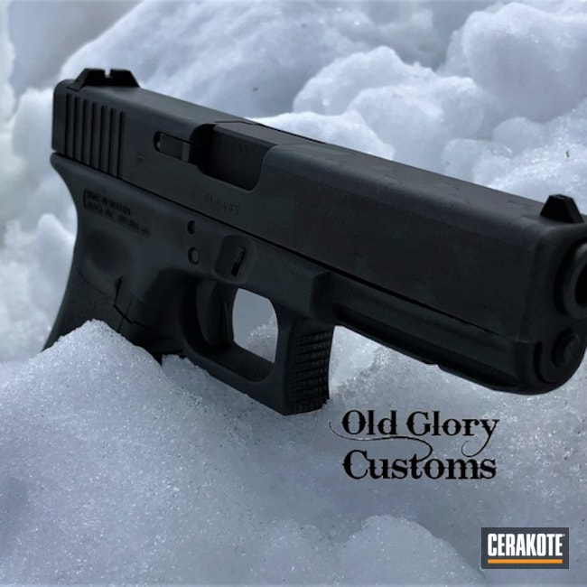 Cerakoted Glock 17 Distressed Ghost Flag In H-146, H-219 And H-338