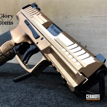 Cerakoted Two Toned H&k Vp9 In H-146 And Mc-160