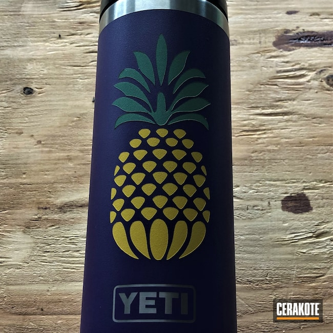 Cerakoted: Water Bottle,Lifestyle,YETI,Crushed Silver H-255,More Than Guns,SQUATCH GREEN H-316,SUNFLOWER H-317,Pineapple