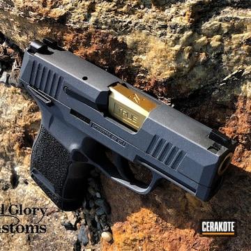 Cerakoted Sig Sauer P365 Handgun In H-234 And H-146