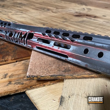 Cerakoted Refinished American Flag Handguard