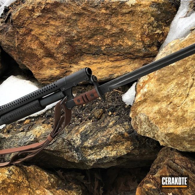 Cerakoted: SHOT,Midnight Blue H-238,Winchester,Trench Gun,Shotgun,Graphite Black H-146,Bayonet,Distressed,Satin Aluminum H-151,1897