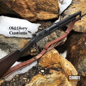 Cerakoted Winchester Shotgun In H-238, H-146 And H-151