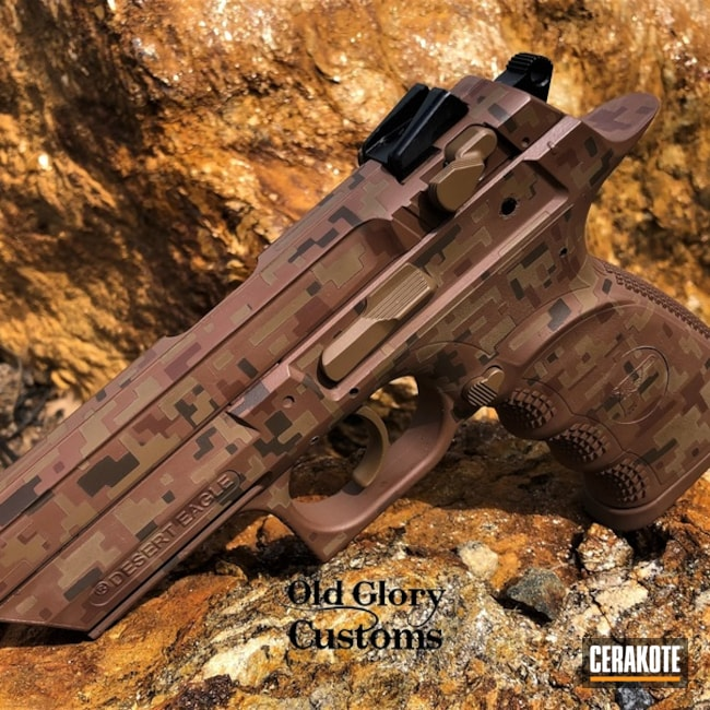 Cerakoted Baby Deagle Digital Camo In H-212, H-269, H-149 And H-258