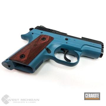 Cerakoted Cz 2075 Handgun In E-100 And H-401