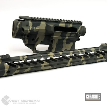 Cerakoted Asat Camo Ar Parts In H-235, H-199 And H-236