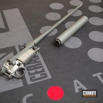 Cerakoted Sako Bolt Action Rifle In H-234