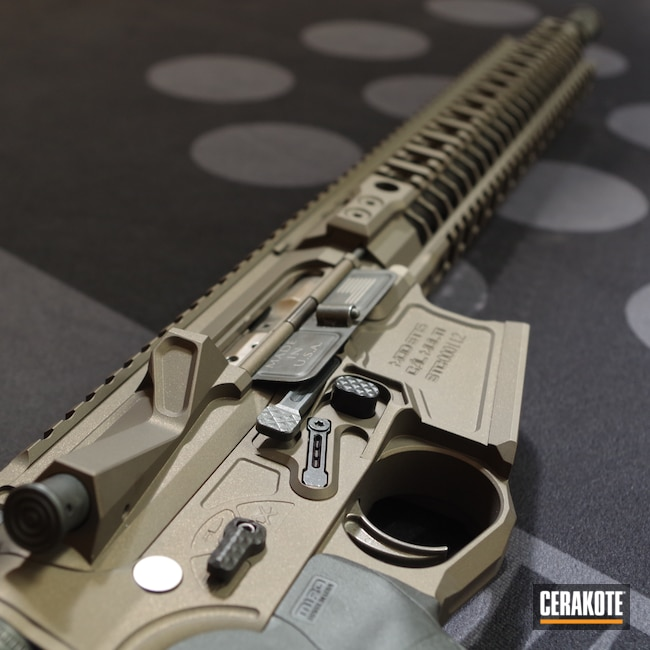 Cerakoted: SHOT,STC,Spike's Tactical,AR,Two Tone,Tactical Rifle,.223,Straight Pull,Midnight Bronze H-294,AR Build