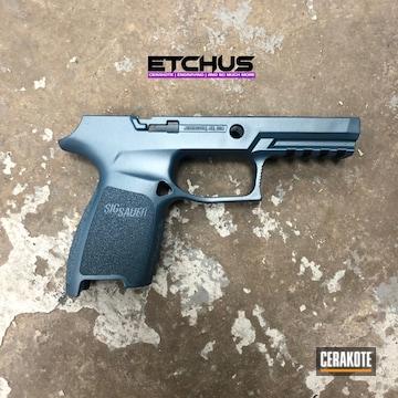 Cerakoted Sig Sauer Pistol Frame In H-185