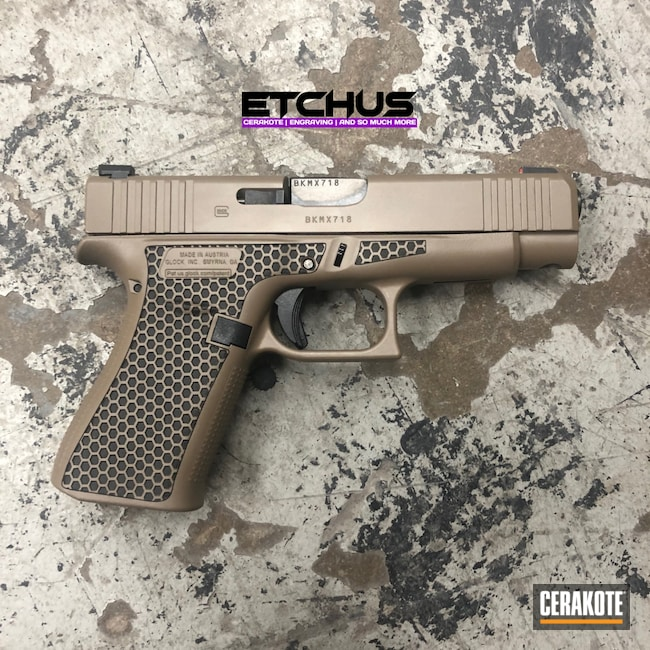 Cerakoted: Glock 48,S.H.O.T,M17 COYOTE TAN E-170,Pistol,Glock