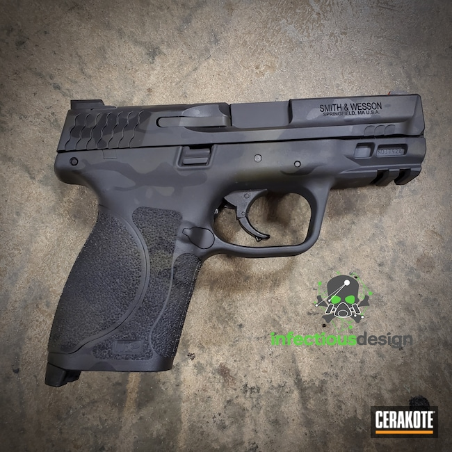 Cerakoted: S.H.O.T,9mm,Conceal Carry,Sniper Grey H-234,MultiCam,Graphite Black H-146,Smith & Wesson,Camo,Pistol,O.D. Green H-236,Handgun,Black Multi Cam