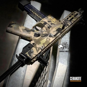 Cerakoted Splinter Camo 9mm Carbine
