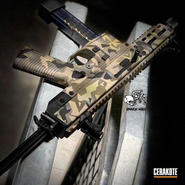 Cerakoted: S.H.O.T,Custom Mix,MAGPUL® FLAT DARK EARTH H-267,B&T,O.D. Green H-236,Carbine,Noveske Bazooka Green H-189,GHM9,Custom Camo,9mm,Graphite Black H-146,MCMILLAN® TAN H-203,Splinter Camo,Pistol Caliber Carbine,Geometric Camo,Call of Duty,Brugger and Thomet