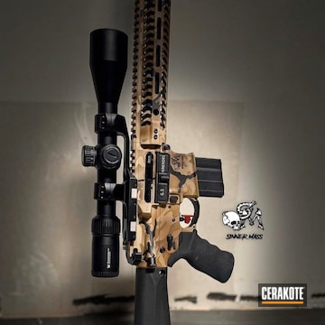 Cerakoted Custom Multicam 6.5 Rifle