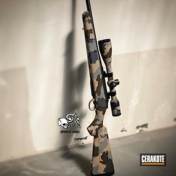 Cerakoted Kuiu Camo Tika T3 Rifle