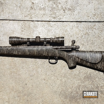 Cerakoted Remington 700 Bolt Action Rifle In Mc-161
