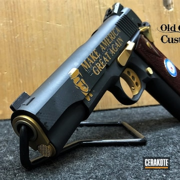 Cerakoted Custom 1911 Colt In H-109 And Mc-160