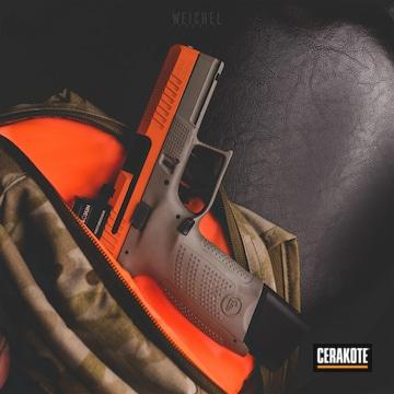 Cerakoted Custom Handgun In H-346
