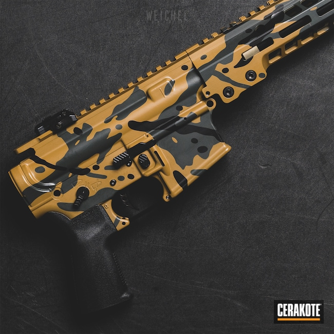 Cerakoted: Noveske Tiger Eye Brown H-187,S.H.O.T,MultiCam,Graphite Black H-146,Tactical Rifle