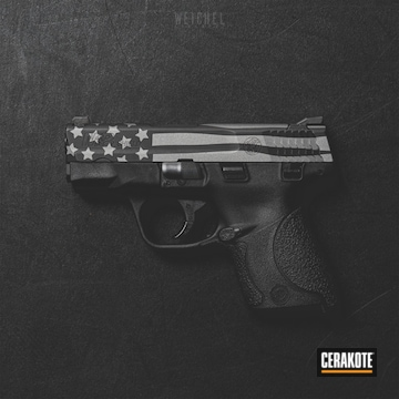 Cerakoted Smith & Wesson American Flag In H-146 And H-237