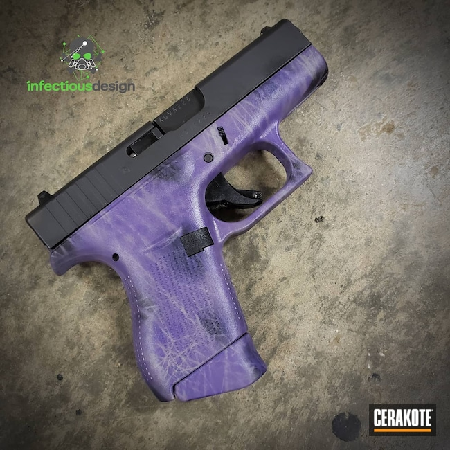 Cerakoted: S.H.O.T,9mm,Conceal Carry,Graphite Black H-146,Bright Purple H-217,Pistol,Handguns