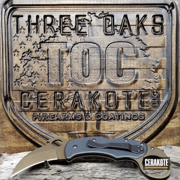 Cerakoted Two Tone Karambit Knife In H-190 And H-294