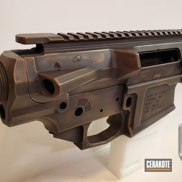Cerakoted Ar10 In A Custom Distressed Deep Bronze