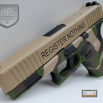 Cerakoted Two Toned Multicam Glock 19
