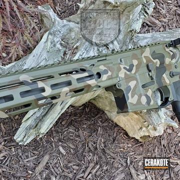 Cerakoted Custom Multicam Pattern On Ar15 Pistol