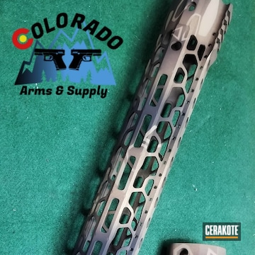 Cerakoted Refinished Handguard In H-235, H-146 And H-148