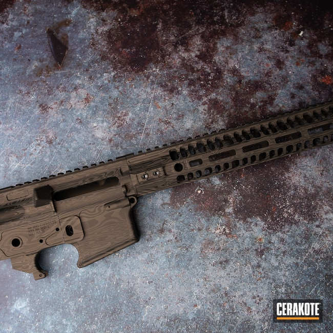 Cerakoted: S.H.O.T,Geissele Automatics,Woodgrain,Upper / Lower / Handguard,Burnt Bronze H-148,Gun Parts