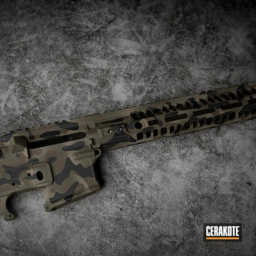 Cerakoted Tactical Rifle Multicam In H-267, H-226, H-190 And H-232