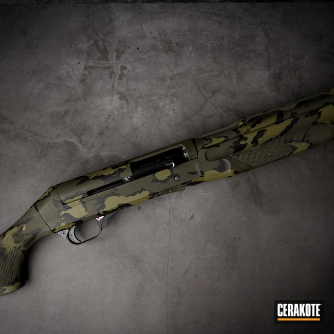Cerakoted: S.H.O.T,MultiCam,Shotgun,Armor Black H-190,Noveske Bazooka Green H-189,MAGPUL® O.D. GREEN H-232