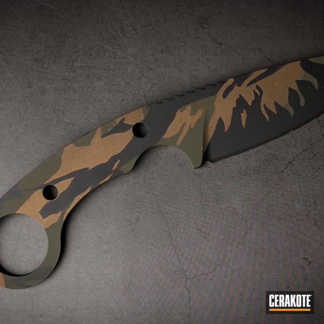 Cerakoted: S.H.O.T,Burnt Bronze H-148,Armor Black H-190,Knife,MAGPUL® O.D. GREEN H-232,Custom Camo
