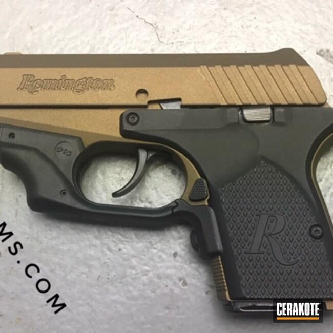 Cerakoted: S.H.O.T,Firearm,Burnt Bronze H-148,Pistol,Remington,Handgun