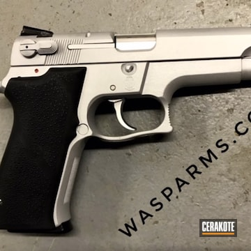 Cerakoted Restored Smith & Wesson Handgun In H-306 And H-255