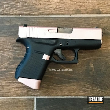 Cerakoted Two Toned Glock 43 Handgun In H-146 And H-327