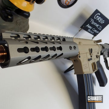 Cerakoted Custom Aero Precision Rifle In H-267, H-199 And H-170
