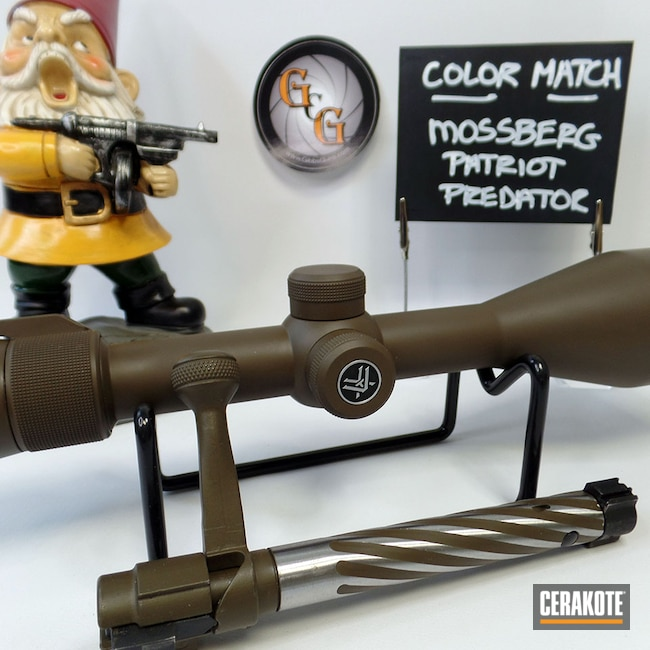 Cerakoted: S.H.O.T,Vortex,Scope,Custom Color,Vortex Scope,Patriot Predator,Color Match,Mossberg,Plum Brown H-298