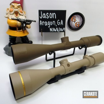 Cerakoted Refinished Rifle Scopes In H-203 And H-265