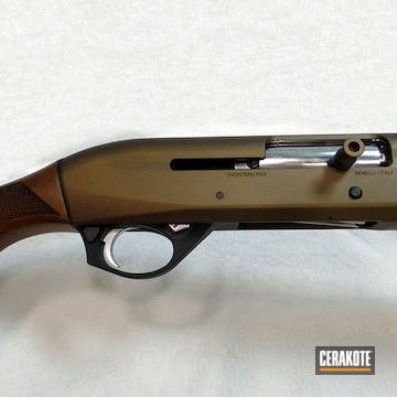 Cerakoted Benelli 12 Gauge Shotgun In H-146 And H-148