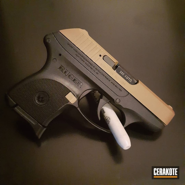 Cerakoted: S.H.O.T,LCP,MAGPUL® FLAT DARK EARTH H-267,Ruger,Two Tone,Firearm,Pistol