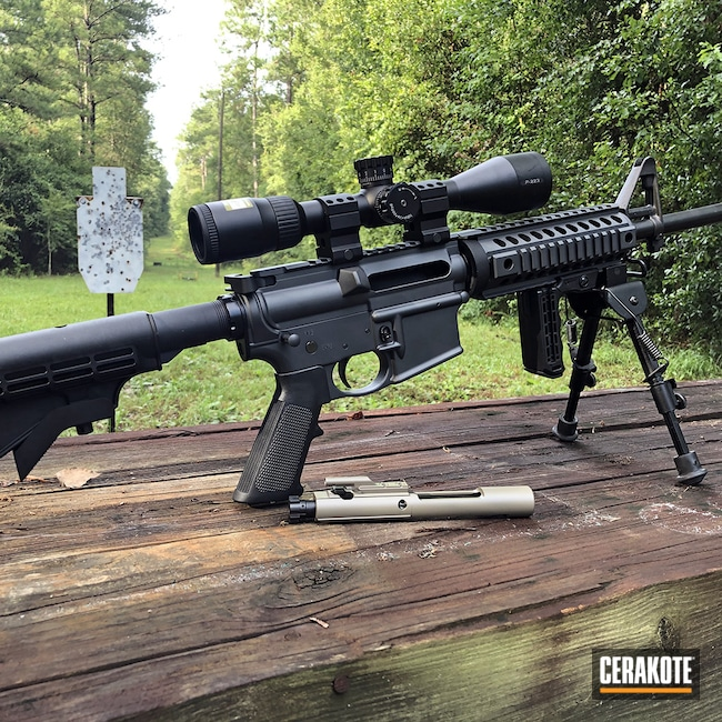 Cerakoted: S.H.O.T,Sand E-150,Sniper Grey H-234,MICRO SLICK DRY FILM LUBRICANT COATING (Oven Cure) P-109,Smith & Wesson,Tactical Rifle
