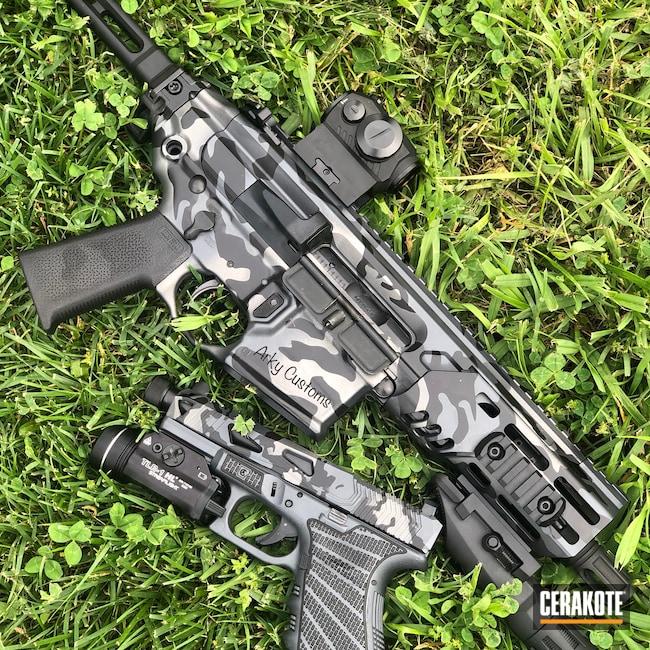Cerakoted: S.H.O.T,Glock 19,MCX,Graphite Black H-146,AR,Tungsten H-237,Rattler,Titanium H-170,Sig Sauer,Grayscale Flag,.300 Blackout,Sig MCX