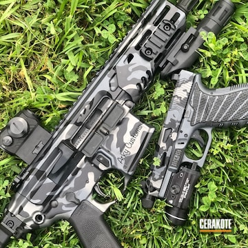 Cerakoted Matching Glock 19 And Sig Rattler