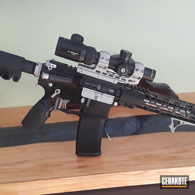 Cerakoted: Satin Mag H-147,S.H.O.T,Aero Precision,Graphite Black H-146,AR,Tactical Rifle