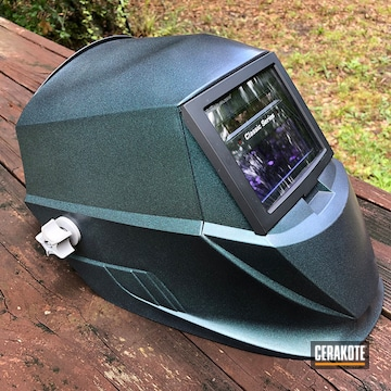 Cerakoted Refurbished Miller Welding Helmet In H-188 And Mc-156